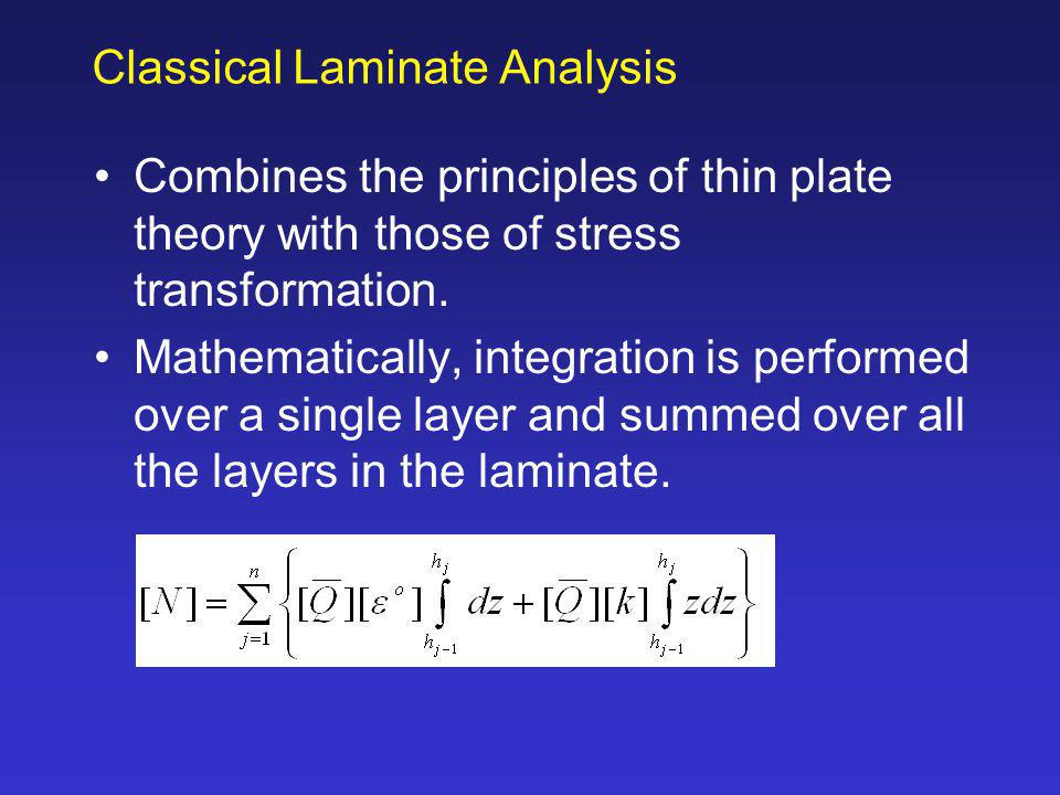 Classical Laminate Analysis