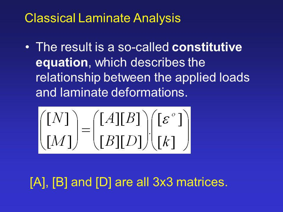 constitutive equation describes the relationship between