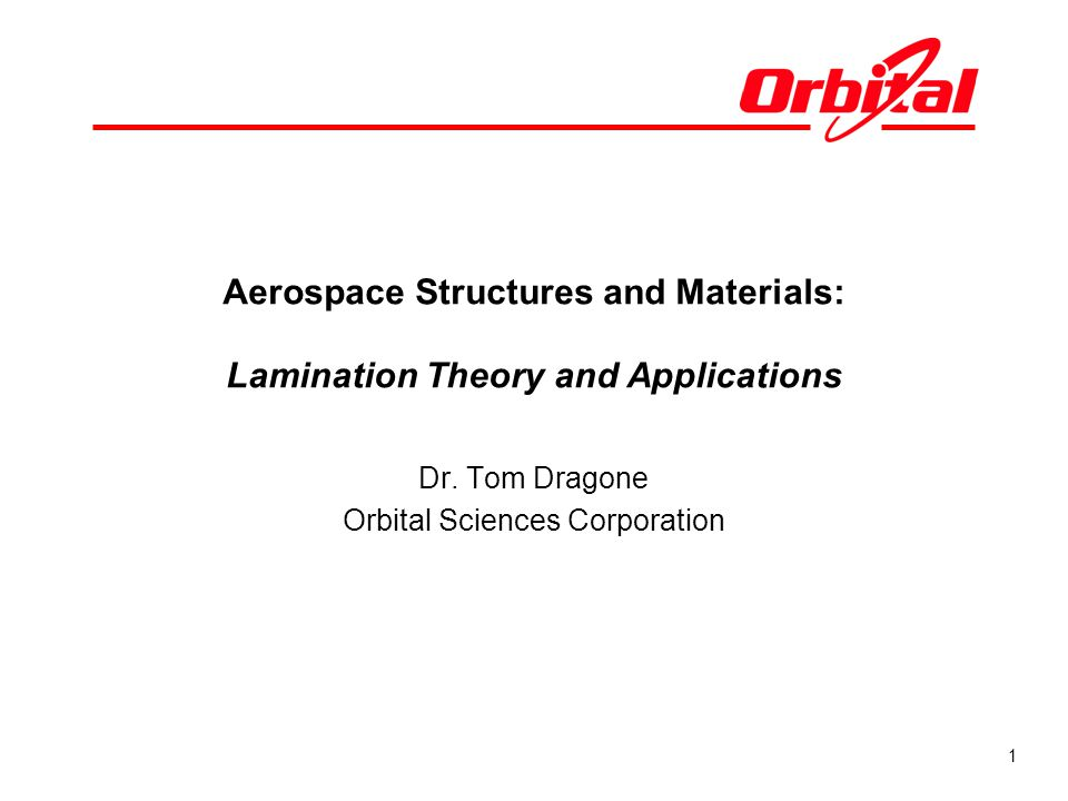 Aerospace Structures and Materials: Lamination Theory and Applications