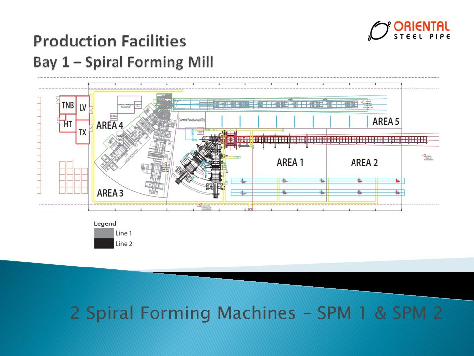 Production Facilities Bay 1 – Spiral Forming Mill