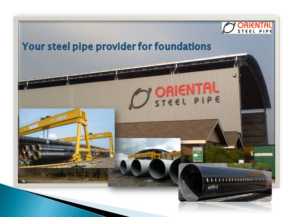 Your steel pipe provider for foundations