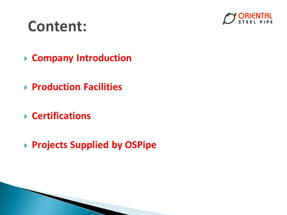 Content: Company Introduction Production Facilities Certifications
