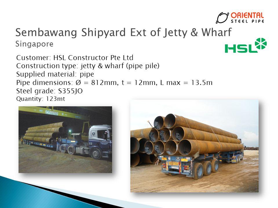Sembawang Shipyard Ext of Jetty & Wharf