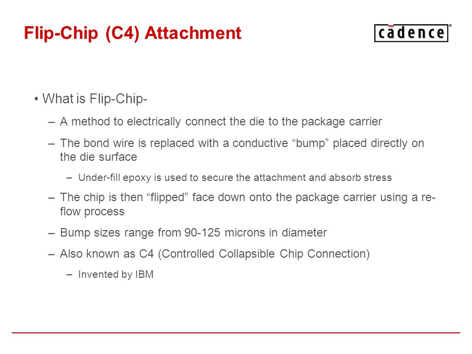Flip-Chip (C4) Attachment