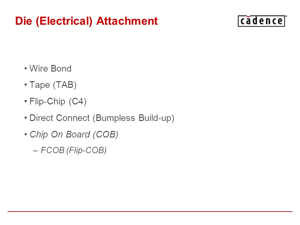 Die (Electrical) Attachment