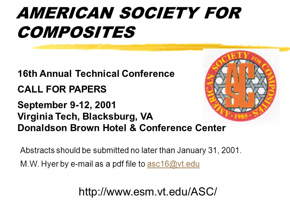 AMERICAN SOCIETY FOR COMPOSITES