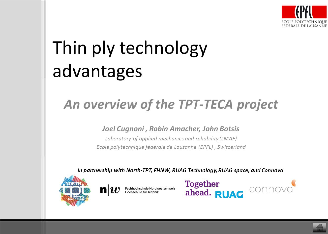 Thin ply technology advantages