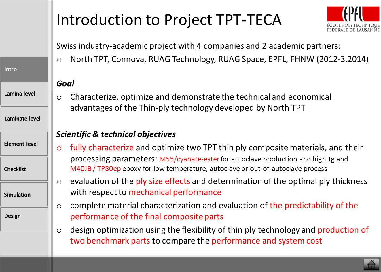 Introduction to Project TPT-TECA