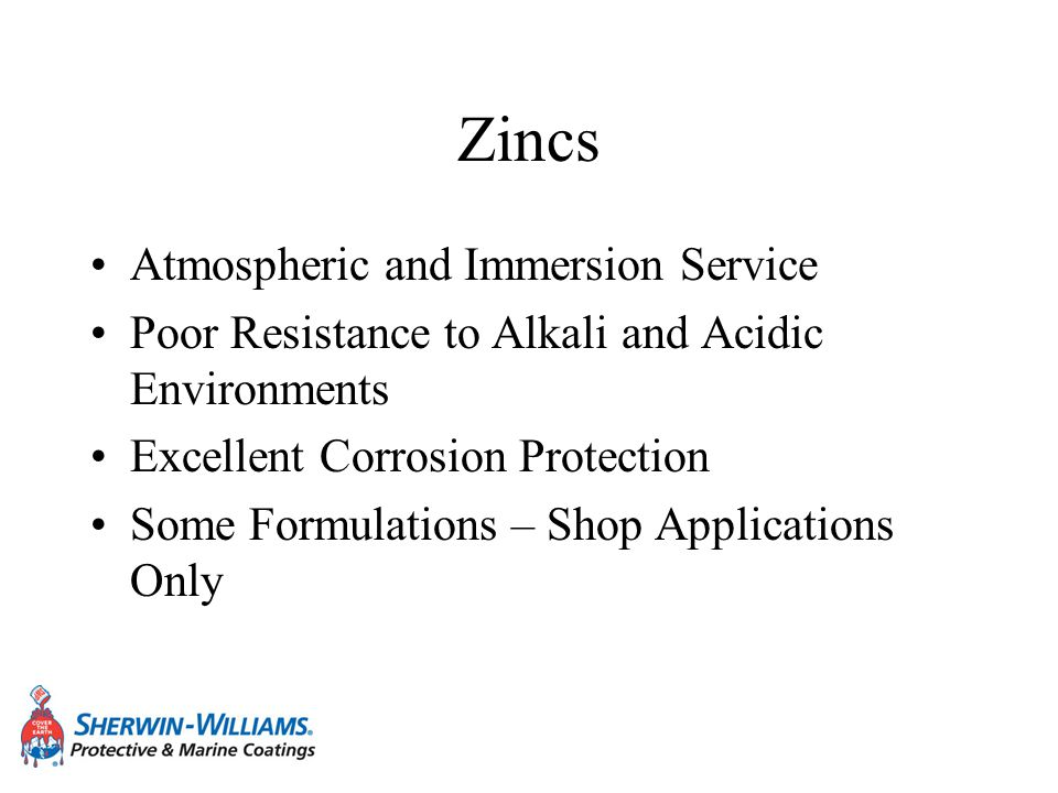 Zincs Atmospheric and Immersion Service