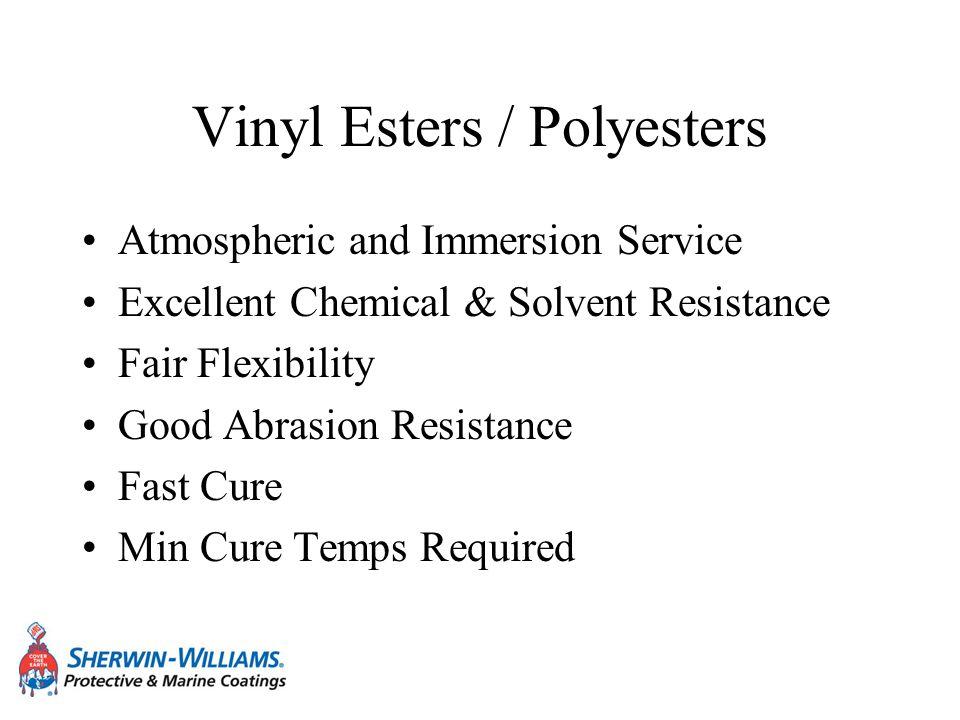 Vinyl Esters / Polyesters