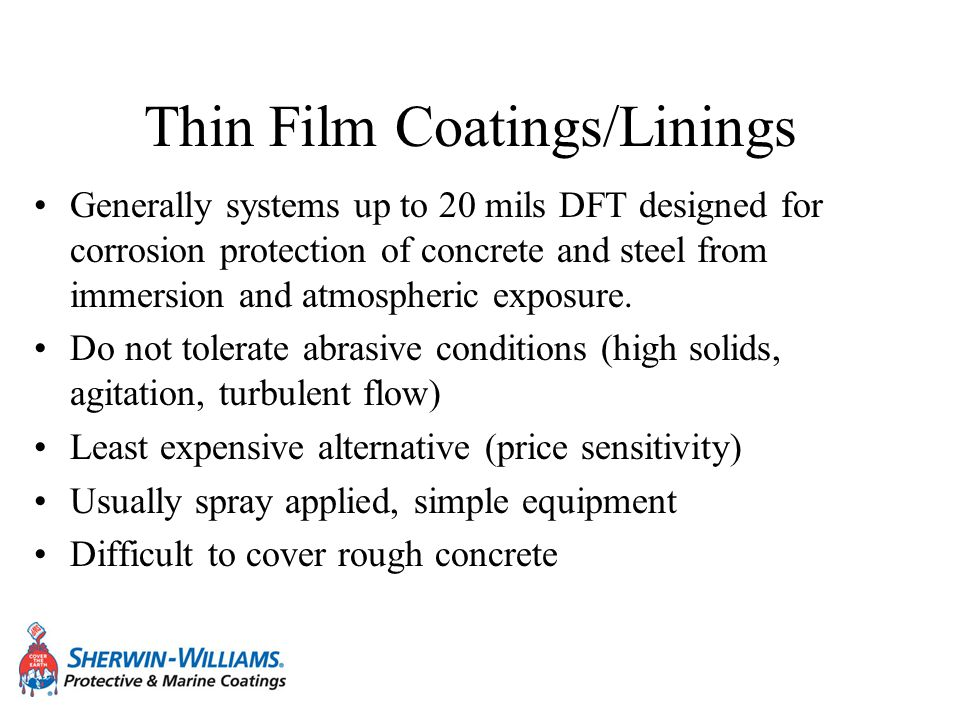 Thin Film Coatings/Linings