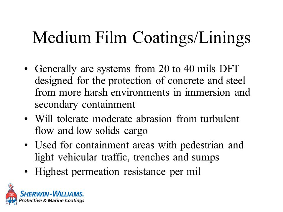 Medium Film Coatings/Linings