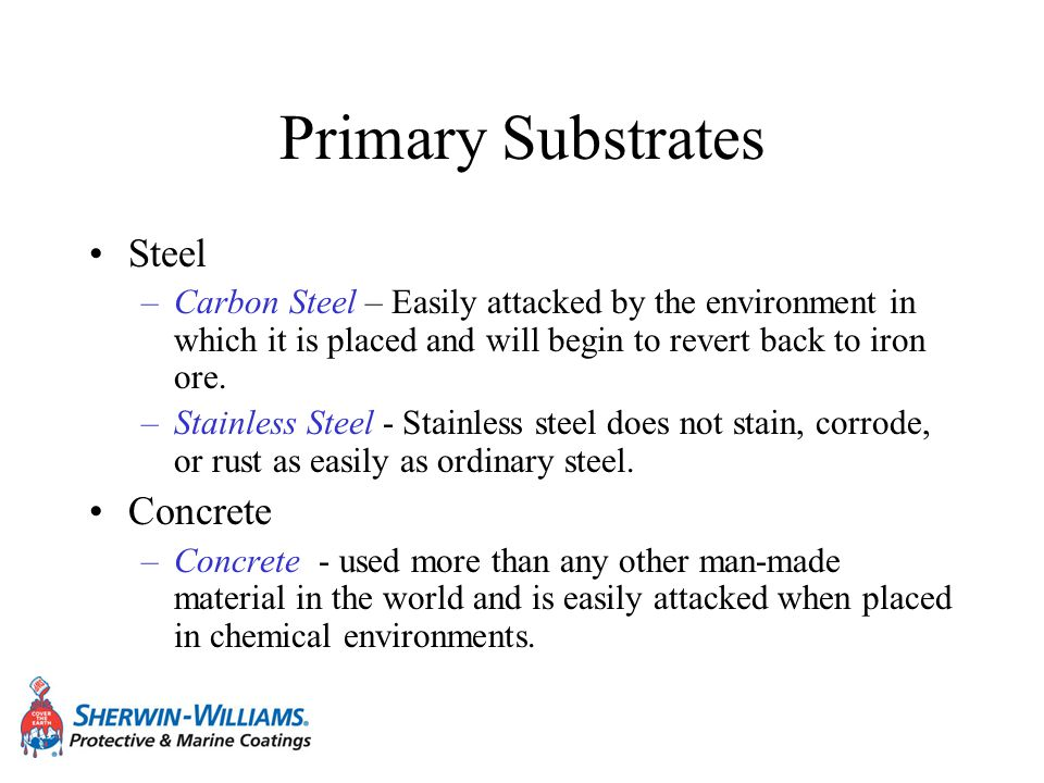 Primary Substrates Steel Concrete