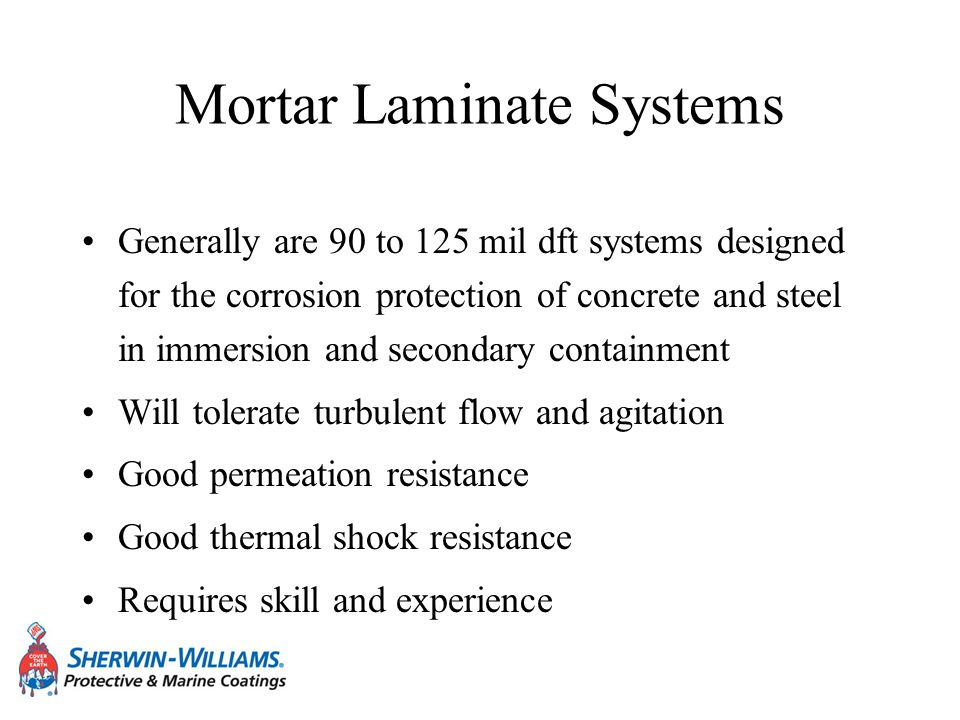 Mortar Laminate Systems