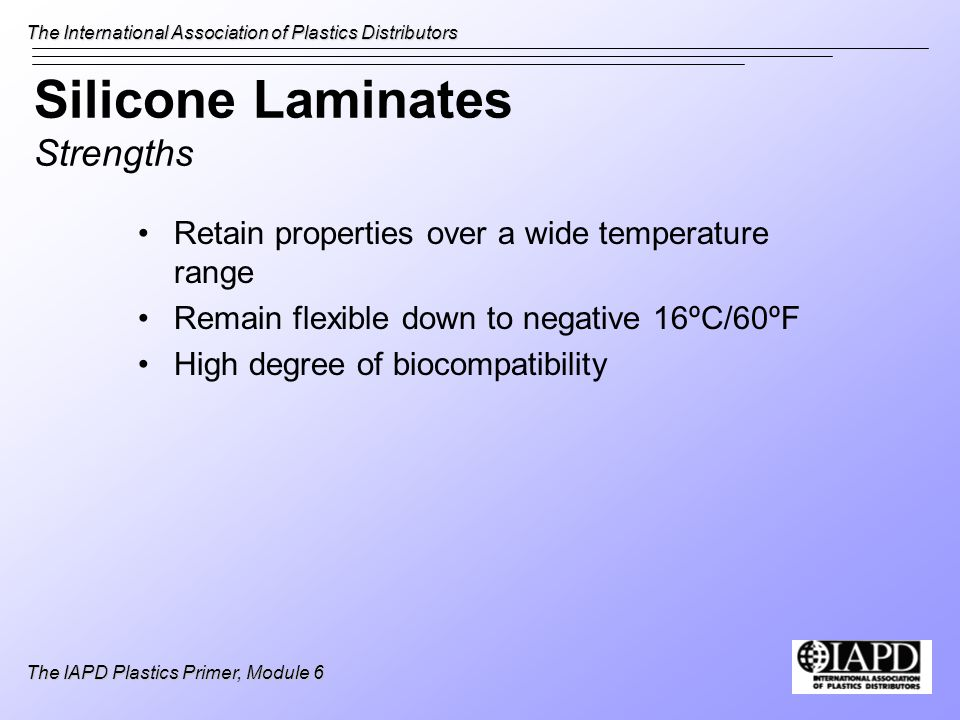 Silicone Laminates Strengths