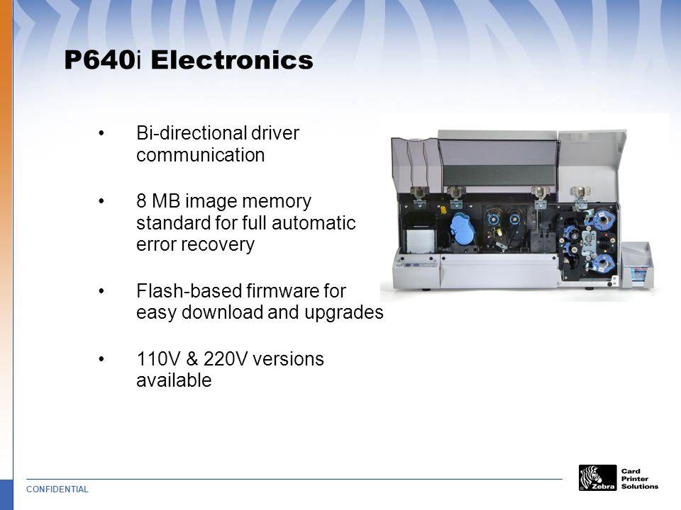 P640i Electronics Bi-directional driver communication