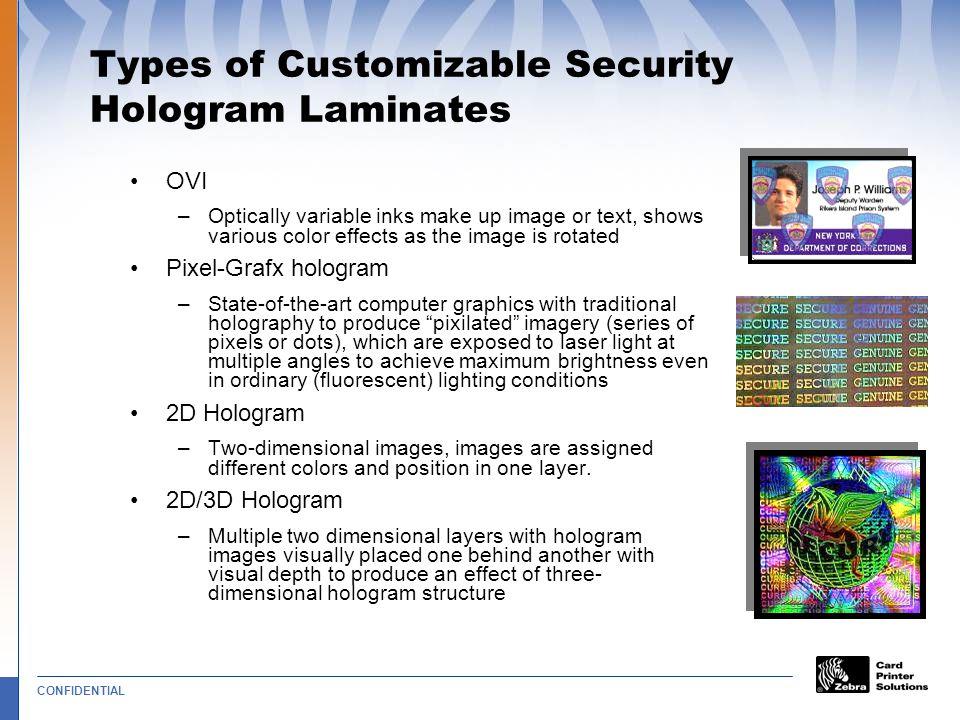 Types of Customizable Security Hologram Laminates