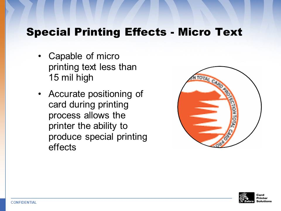 Special Printing Effects - Micro Text