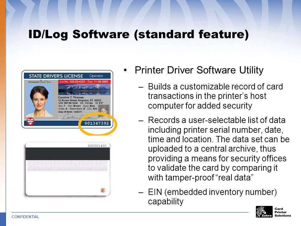 ID/Log Software (standard feature)