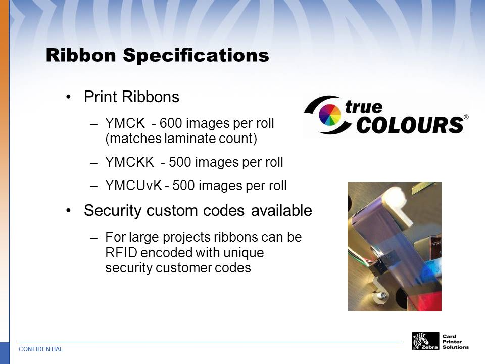 Ribbon Specifications