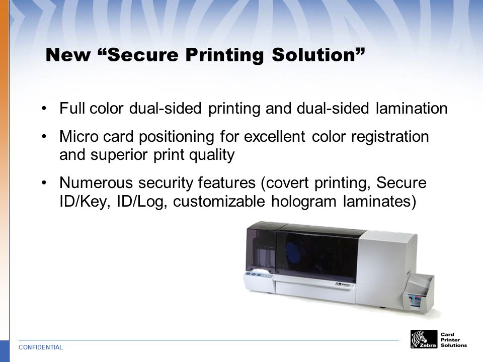 New Secure Printing Solution