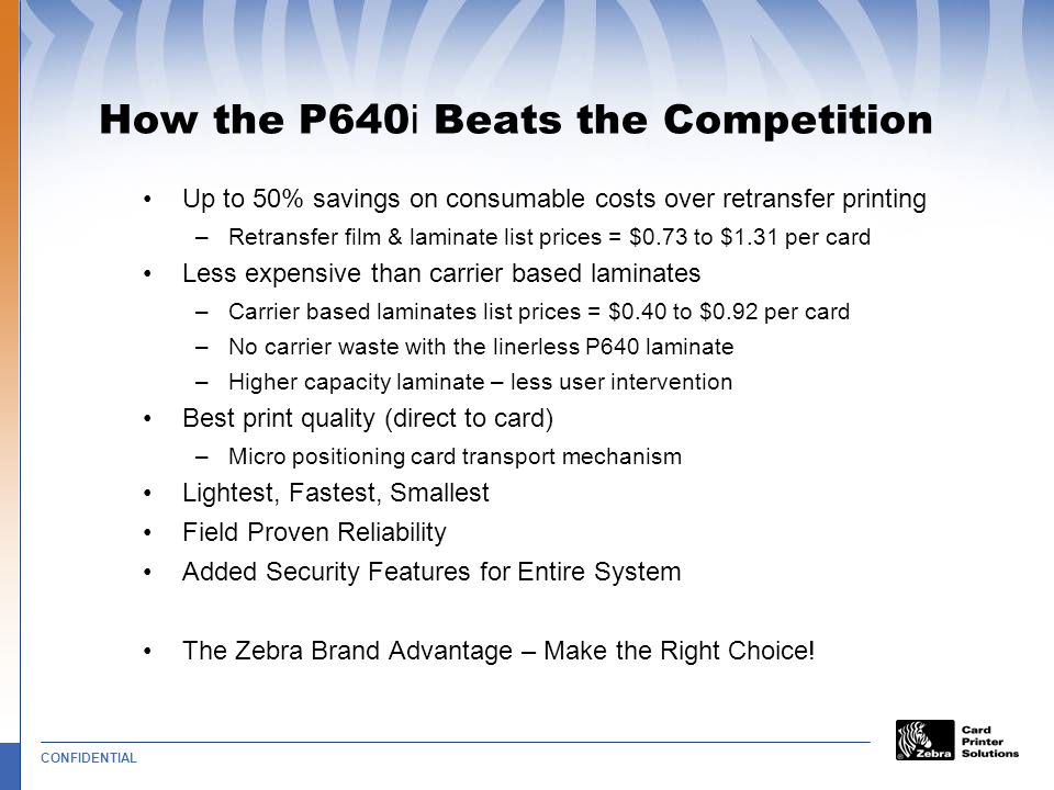 How the P640i Beats the Competition
