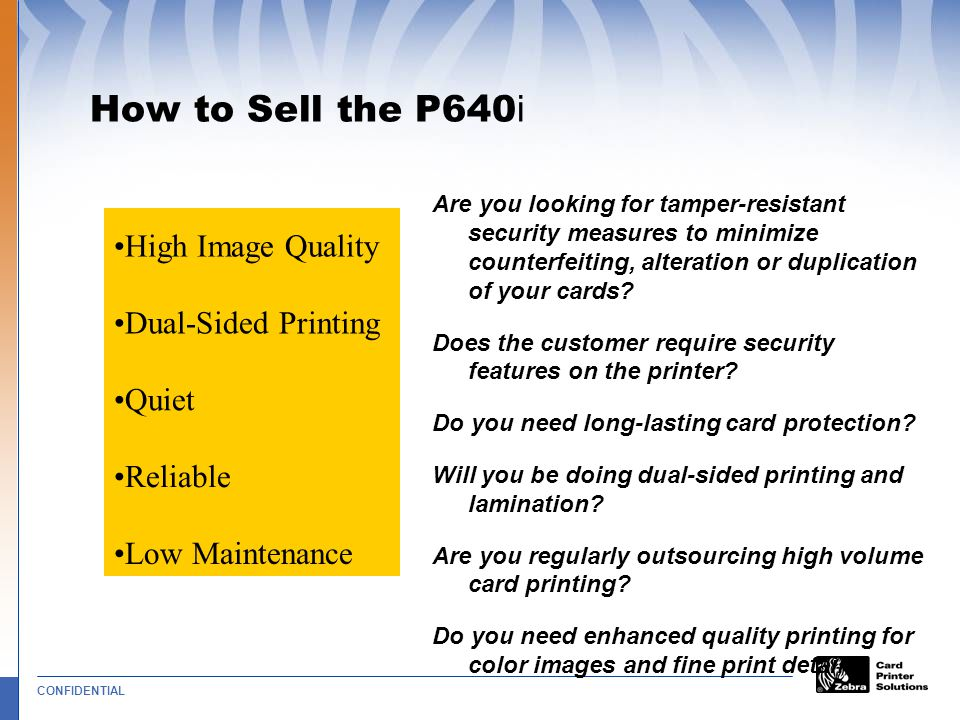How to Sell the P640i High Image Quality Dual-Sided Printing Quiet