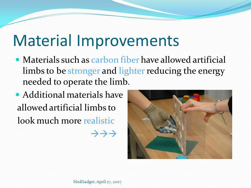Material Improvements