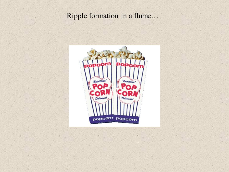 Ripple formation in a flume…