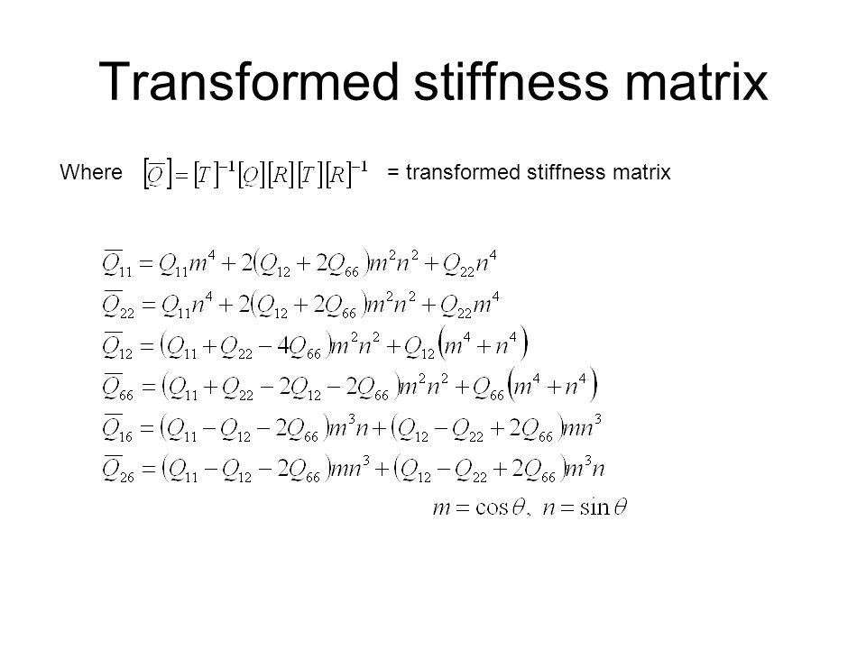 Transformed stiffness matrix