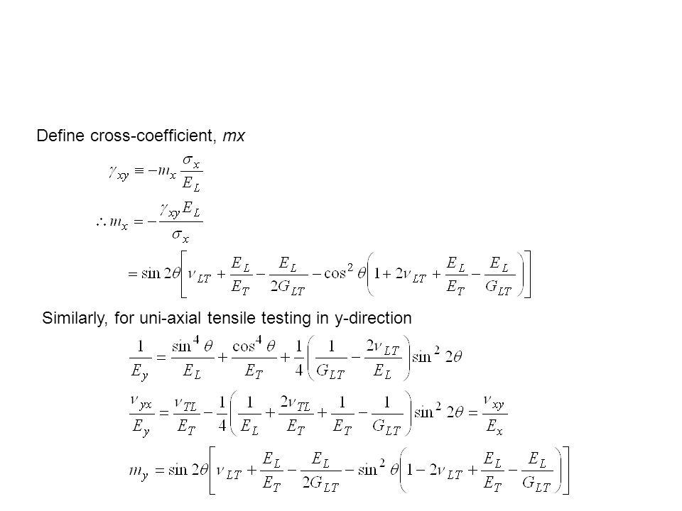Define cross-coefficient, mx