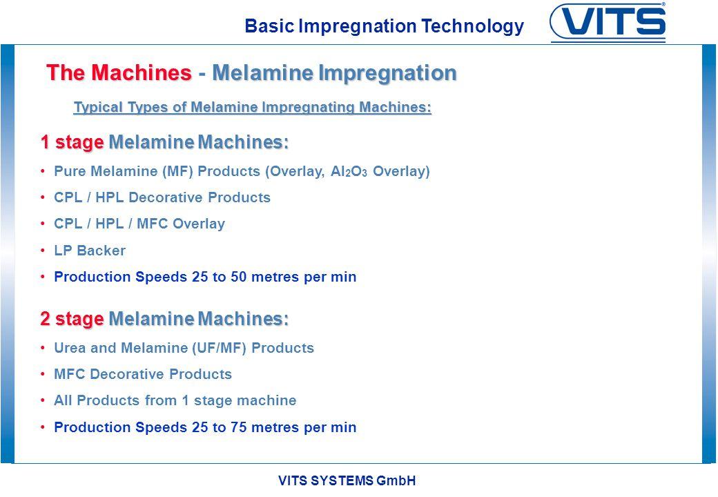 The Machines - Melamine Impregnation