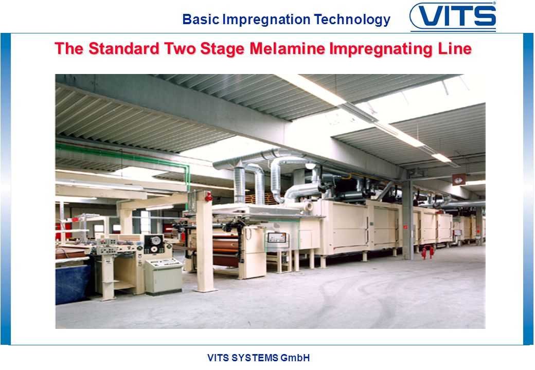 The Standard Two Stage Melamine Impregnating Line