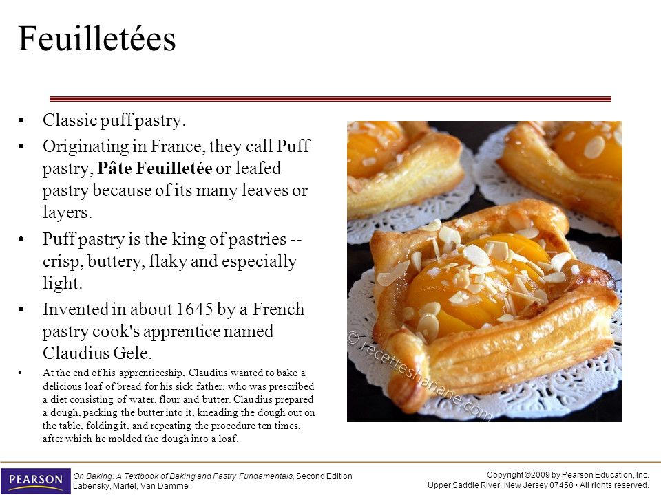 Feuilletées Classic puff pastry.