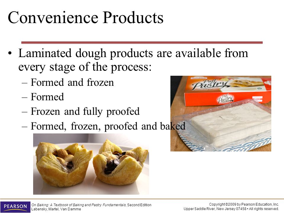 Convenience Products Laminated dough products are available from every stage of the process: Formed and frozen.