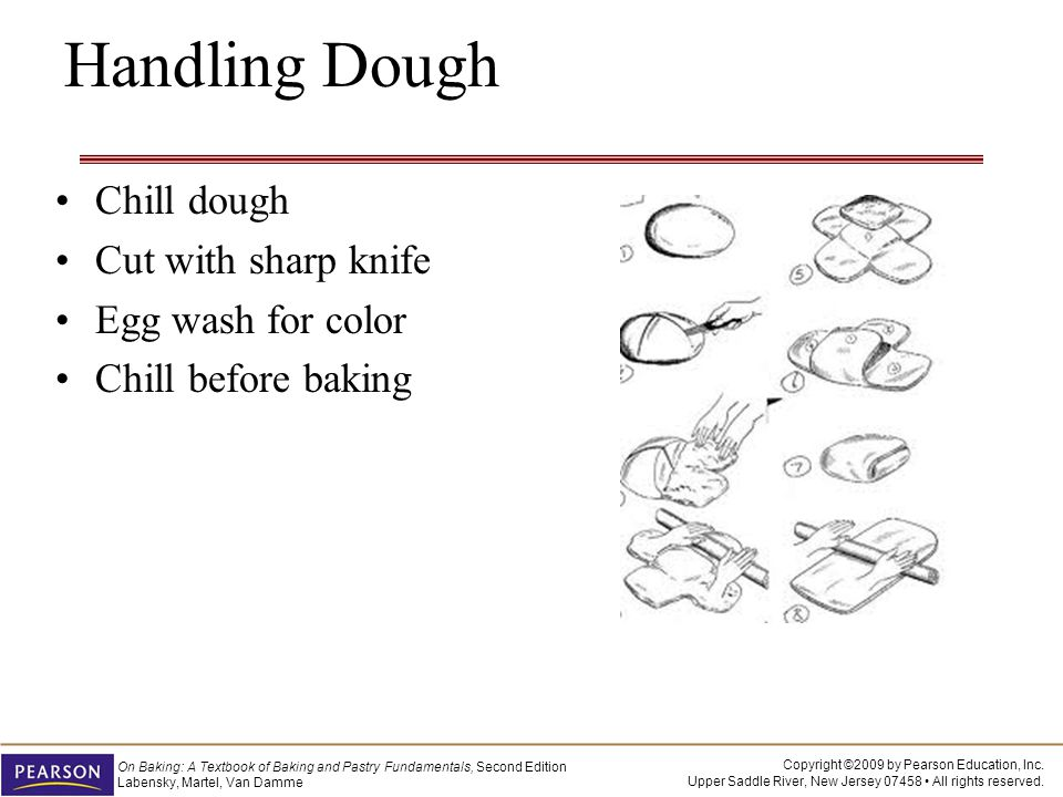 Handling Dough Chill dough Cut with sharp knife Egg wash for color