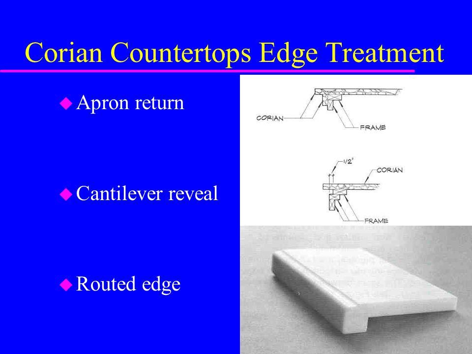 Corian Countertops Edge Treatment