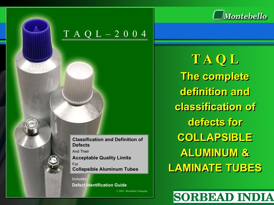 T A Q L The complete definition and classification of defects for