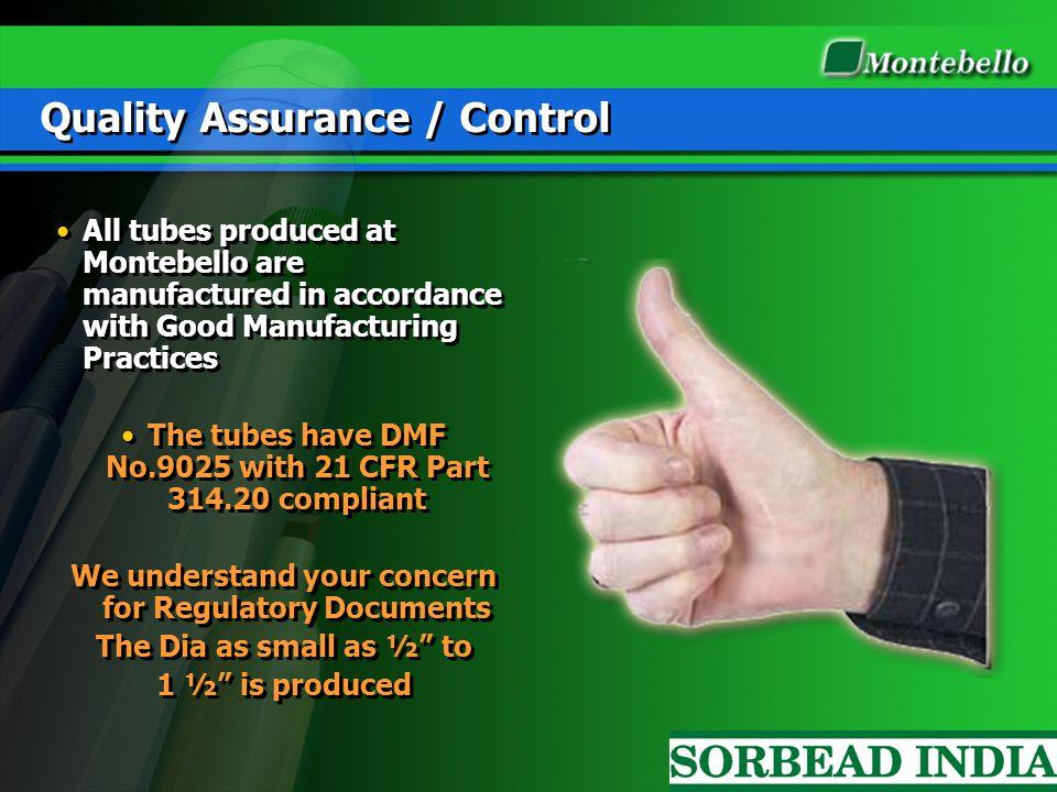 Quality Assurance / Control