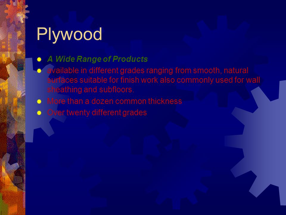 Plywood A Wide Range of Products