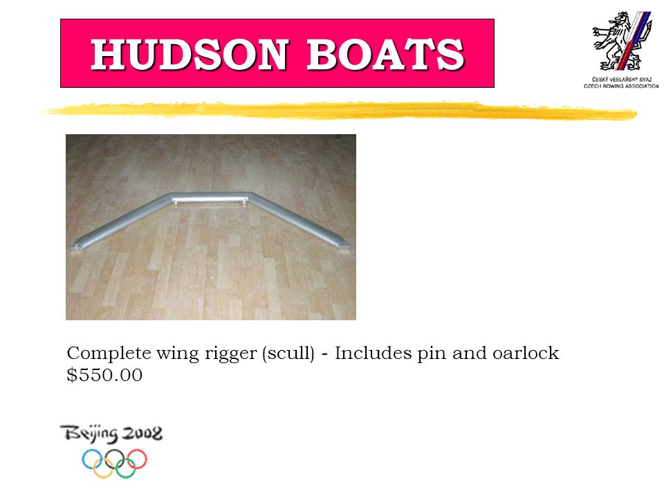 HUDSON BOATS Complete wing rigger (scull) - Includes pin and oarlock $550.00