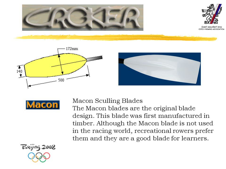Macon Sculling Blades The Macon blades are the original blade design