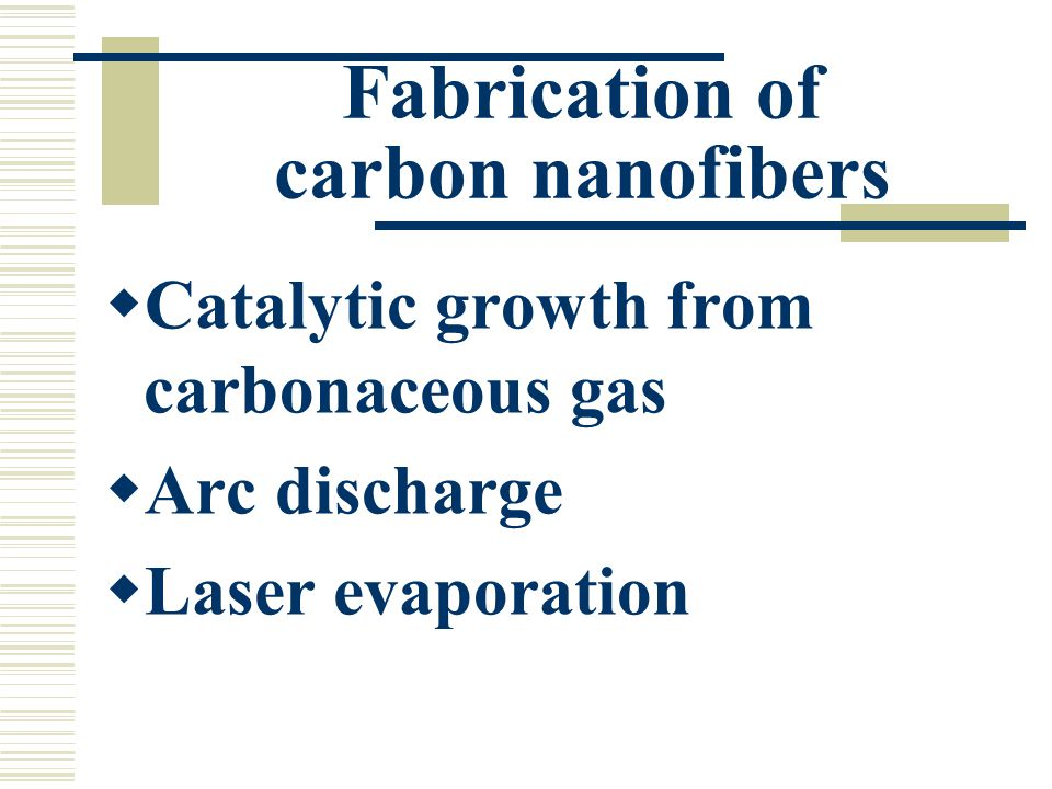 Fabrication of carbon nanofibers