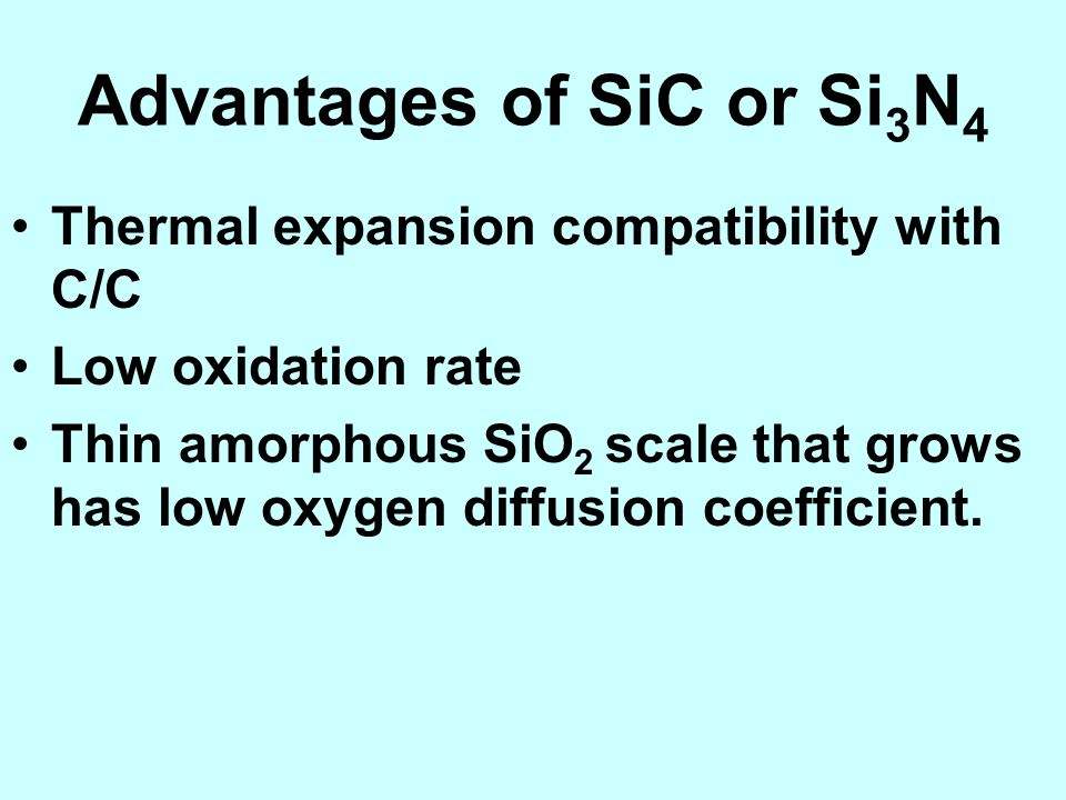 Advantages of SiC or Si3N4
