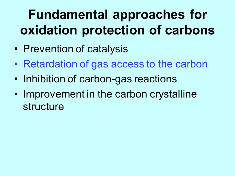 Fundamental approaches for oxidation protection of carbons