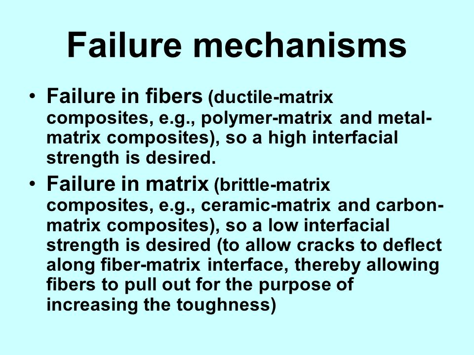 Failure mechanisms