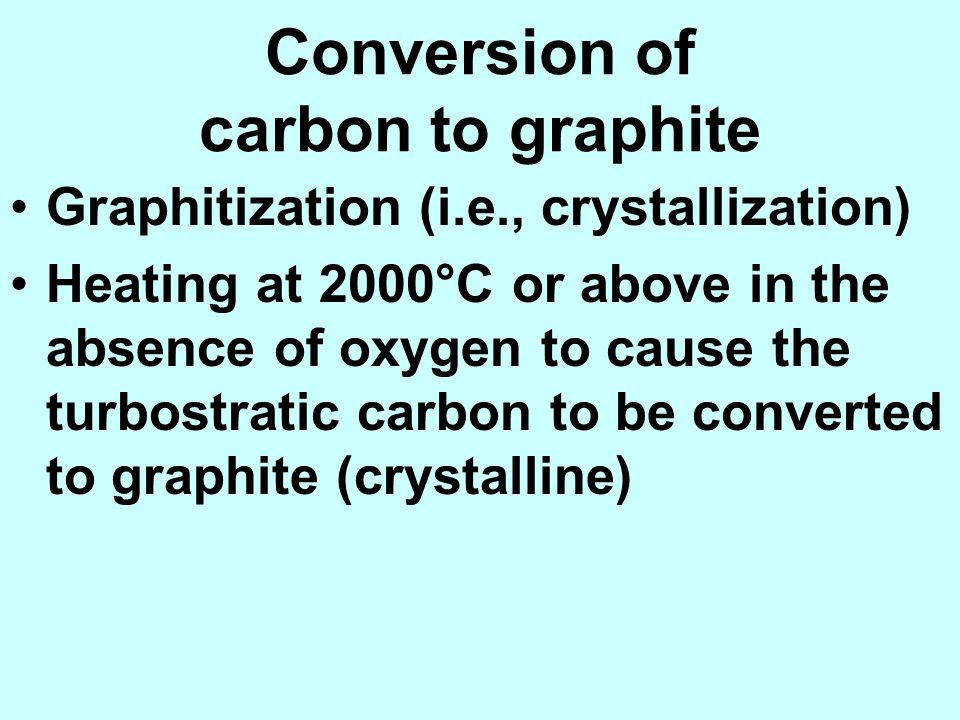 Conversion of carbon to graphite