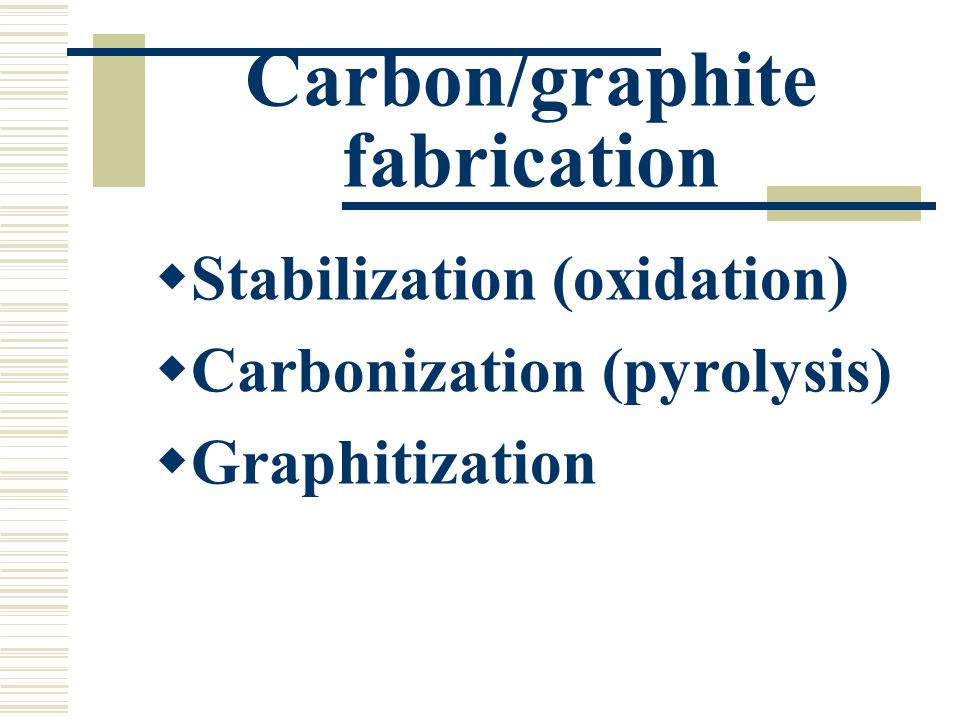 Carbon/graphite fabrication