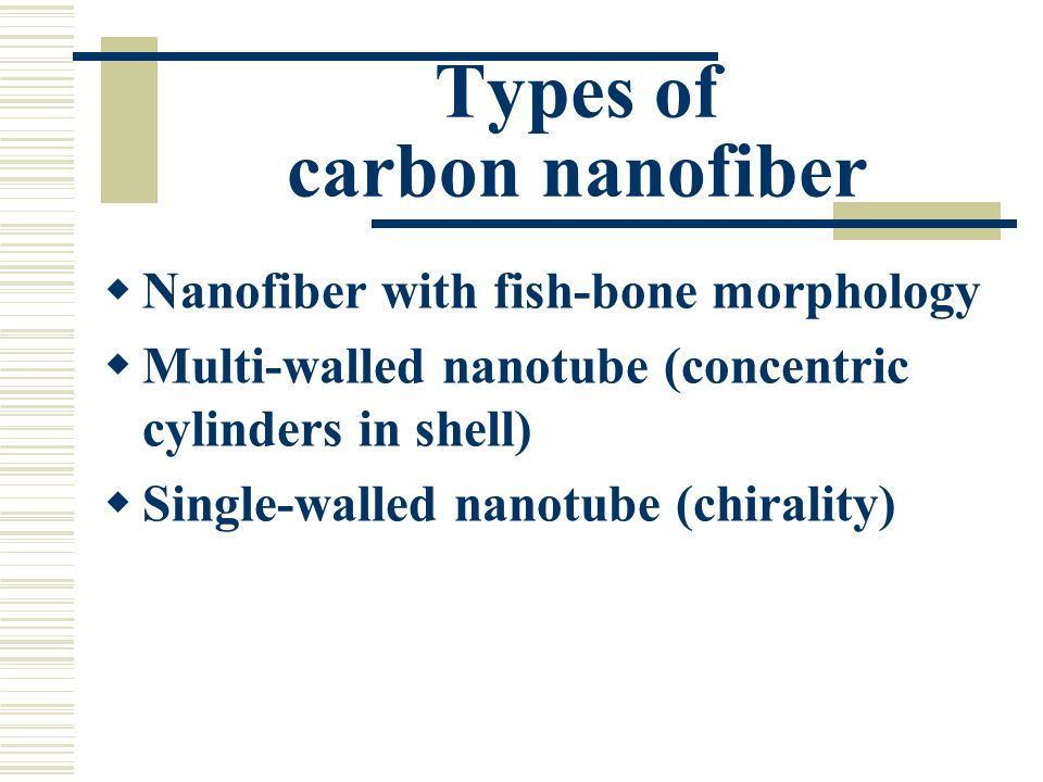Types of carbon nanofiber