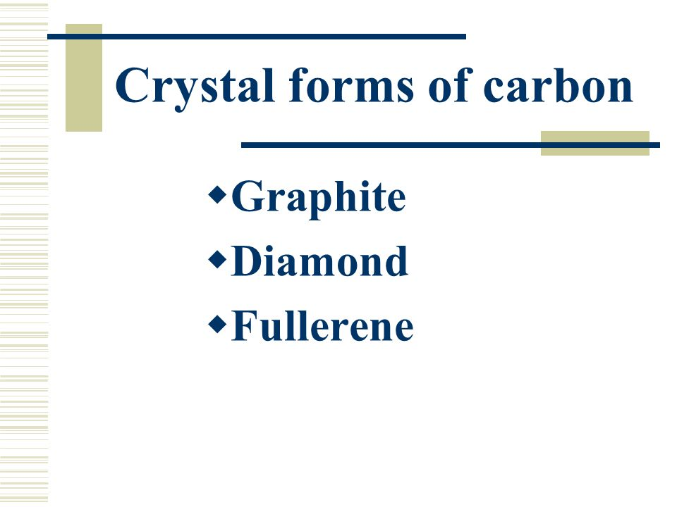 Crystal forms of carbon